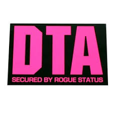 Dta Rogue Status Brand Logo Sticker In Fuschia Black