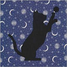 Cat Silhouette Pattern Cat Quilt Block Quilt Appliqué & 🔎zoom Adamdwight.com