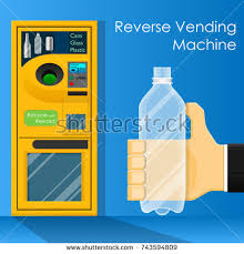 Reverse Vending Machine Recycling Delectable Reverse Vending Machine Recycle Reward Money Stock Vector Royalty
