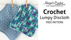 Youtube Free Crochet Patterns Delectable Lumpy Dishcloth Free Crochet Pattern Right Handed YouTube