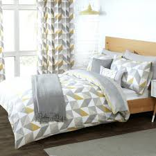 delta grey yellow luxury reversible duvet set with cover and nursery bedding sets uk