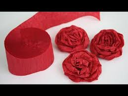 Making Flower Using Crepe Paper How To Make Twisted Crepe Paper Roses Youtube