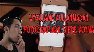 İphonelarda Fotoğraflara Şifre Koyma (PROGRAMSIZ) - YouTube