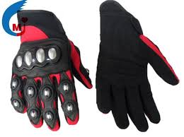 china motorcycle glove of syn leather fabric pvc genuine leather china glove motorcycle accessories