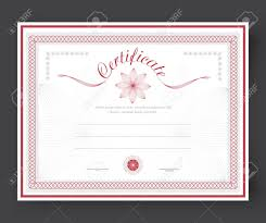 Free Downloadable Certificates Template Certificates With Flowers And Rosette To Be Awarded