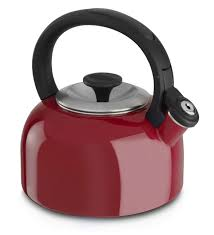 minimalist kitchen with red metallic color kitchen aid tea kettle black perfectly kitchen handle