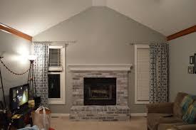 great painting fireplace brick at whitewashed brick fireplace