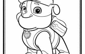 Rubble Paw Patrol Coloring Page Only Coloring Pages