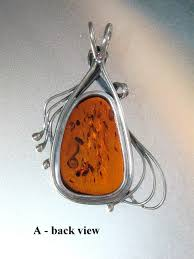 back view real amber pendant style a