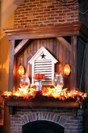 fireplace mantel lighting. Fireplace Mantel Lighting  Hide Lights Among Faux Leaves So You . Contemporary