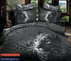 animal print bedding set black and white animal tiger leopard print bedding sets queen size duvet animal print bedding