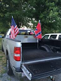 Custom flag mounts in my Ford F-150 | Ford | Custom flags, Ford, Opera
