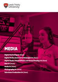 Design Courses Leeds Media Leeds Trinity University Course Guide 2020 By Leeds
