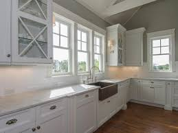 traditional white kitchen with stainless steel farmhouse sink cabinets country drainboard and cabinet grey a inch