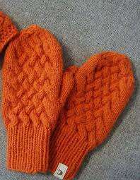 Mittens Pattern Delectable Orange Cabled Knit Mittens Pattern AllFreeKnitting