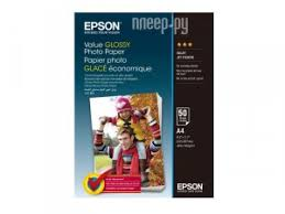 Купить <b>Epson</b> Value Glossy Photo <b>Paper</b> A4 183g/m2 50 листов ...