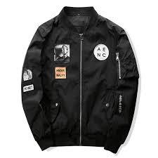 male jackets fashion er jacket hip hop patch
