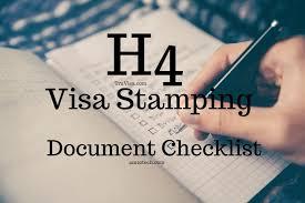 h4 visa sting doents checklist