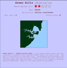 Hills Beach Tide Chart Green Hills Surf Forecast And Surf Reports Nsw Sydney