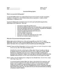 Lac Annotated Annotation Bibliography
