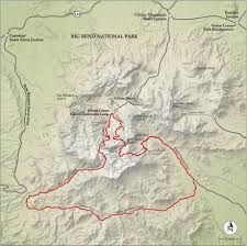 best big bend national park hike trail map  national geographic