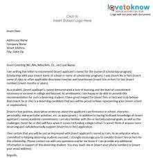 sample scholarship re mendation letter re mendation letter for college template