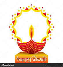 Holiday Homework Cover Page Design Colorful Decorated Diya Happy Diwali Holiday India Poster