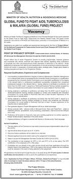 Project Officer Cv Project Officer Tuberculosis Grant Contract Basis Global