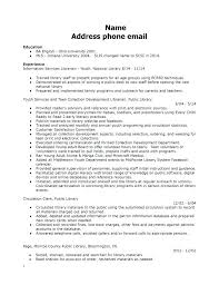 Librarian Cover Letter Resume For Library Job Example Socialum Co