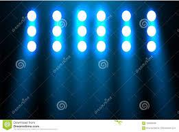 Blue Light Disco Spotlight On A Black Background The Blue Light Shines From