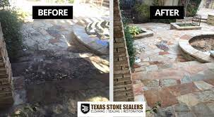 before after texas stone sealers