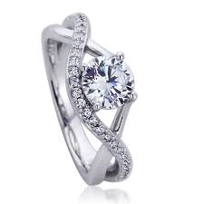 infinity wedding rings. platinum plated sterling silver wedding ring round cz infinity design engagement rings