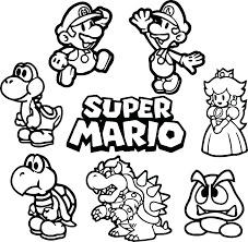 Mario Coloring Pages Toad Super Brothers Free Printable Coloring