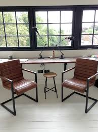 industrial style office furniture. Vintage Style Leather Chairs Industrial Office Furniture N