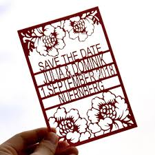 Christmas Wedding Save The Date Cards Personalized Flower Save The Date Laser Cut Wedding Save The Date