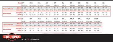 Tru Spec Belt Size Chart Best Picture Of Chart Anyimage Org