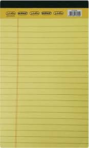 Kanz 5x8 Lined Pad Paper Yellow