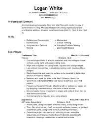tradesman resumes best tradesman resumes resumehelp