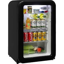 Schmick Funky Refrigerator Black Retro 110 Litre Trendy Glass ...