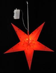 Stern Weihnachtsstern 12 Led 44 Cm Batteriebetrieben Innen Außen Timer Rot