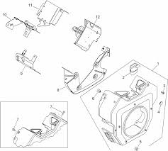 Blower housing and baffle assembly kohler ch740 3126