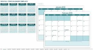 Professional Calendar Template Full Year Calendar Template To Download Or Print