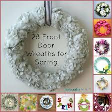 spring wreath for front doorFront Doors  Door Inspirations Image Of Simple Wreaths For Front