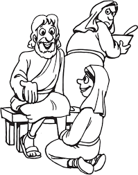 Small Picture Download Stylish Mary And Martha Coloring Page For Free http