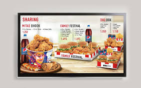 Top free images & vectors for menus kfc 5 euros in png, vector, file, black and white, logo, clipart, cartoon and transparent. Artstation Kfc Outlets Led Menu Noman Khan