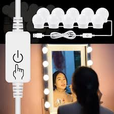 Vanity Light Up Us 4 63 42 Off Canling Modern Led Dressing Table Mirror Vanity Light Diy Make Up Mirror Lamp Stepless Dimmable Hollywood Mirror Wall Lamp Bulbs In