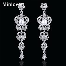chandelier crystal earrings wedding wedding chandelier earrings swarovski crystals