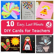easy last minute diy cards for teachers