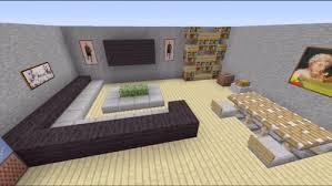 living room designs for minecraft pe