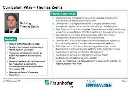 Resume Powerpoint Presentation Ppt Curriculum Vitae Thomas Zentis Powerpoint